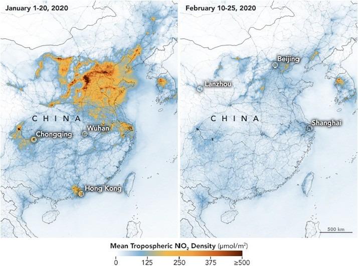 Imagen satelital de china