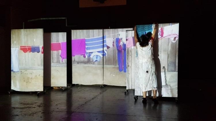 Escena de La Bocaracá, montaje presencial de Teatro Agosto
