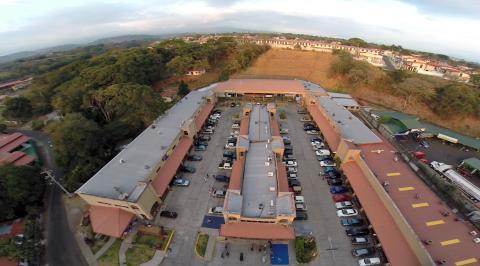 Vista aérea del Centro Académico de Alajuela.