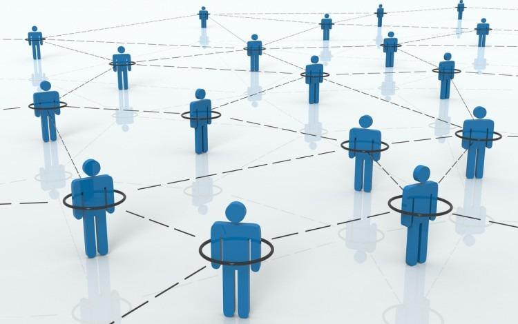 Imagen ilustrativa de una red de contactos.