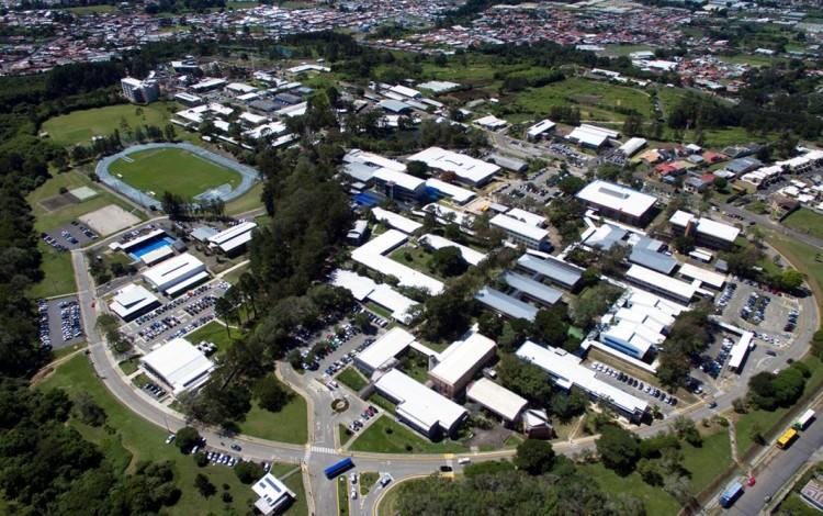 Vista aérea del Campus Tecnológico Central Cartago.
