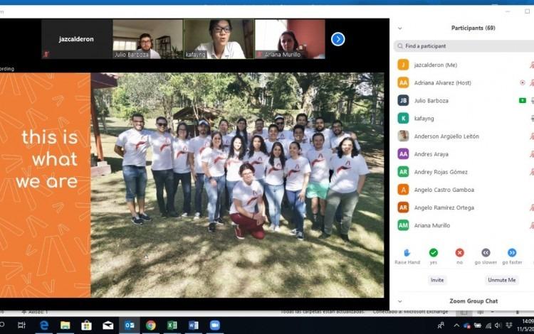 Captura de pantalla de una sesión de la Semana de Vinculación con la Industria