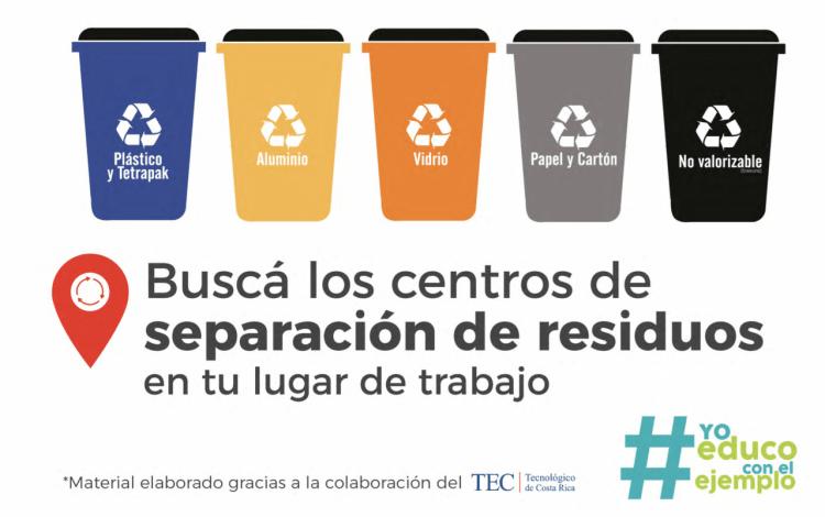imagen de basureros de reciclaje.