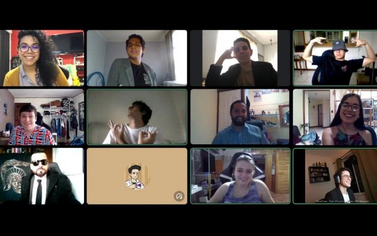 Captura de pantalla de la fiesta de la alegría virtual de Random