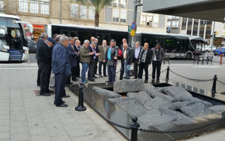 """Los rectores latinoamericanos en """"Yad Itzjak Rabin"""" (Fotografía, cortesía del Ministerio de Relaciones Exteriores)"""