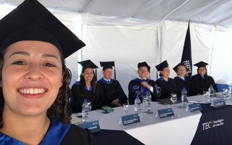 Ing. Laura Barillas, graduada del TEC (Foto cortesía Laura Barillas)