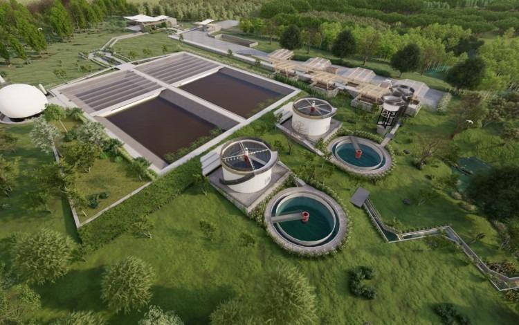 Imagen de una planta de tratamiento de aguas residuales diseñada por estudiantes del TEC.
