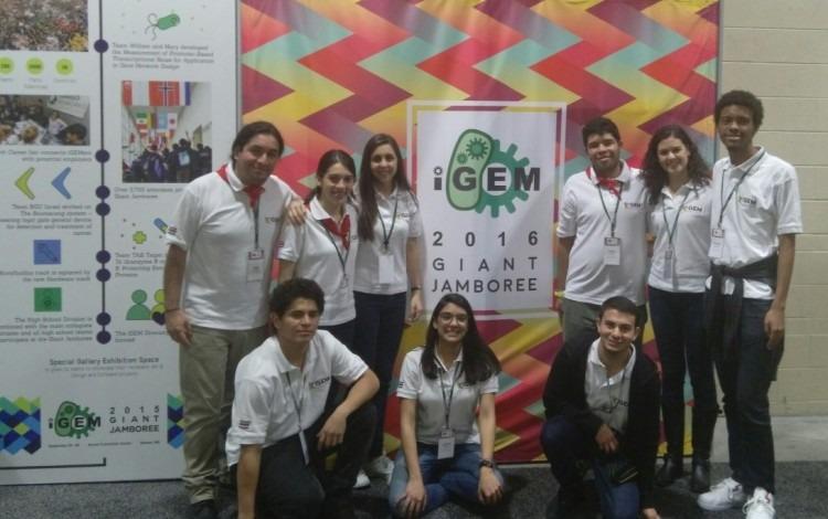 El grupo de estudiantes desarrolladores del proyecto Prostal dejaron al TEC en una posición muy alta en la importante competición. (Foto cortesía de Miguel Rojas)