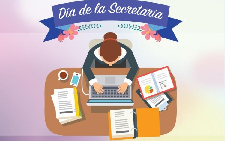 ilustración de secretaria en escritorio
