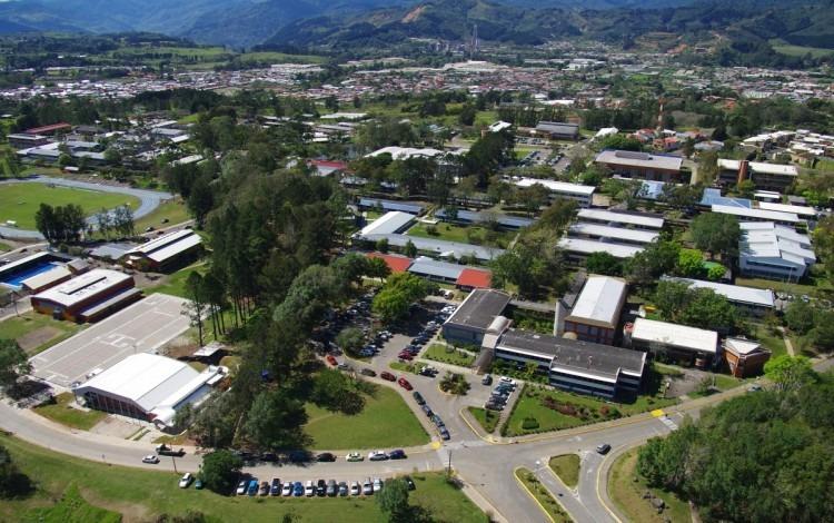 vista aérea del Campus Central con vista de edificios