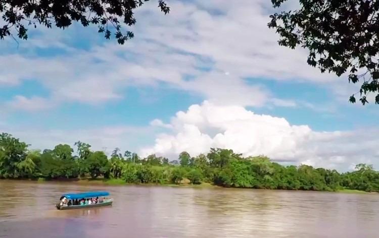 bote en río