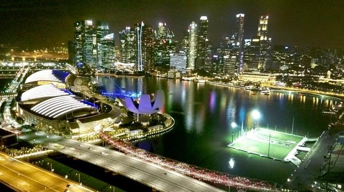 Vista aérea de Singapur.