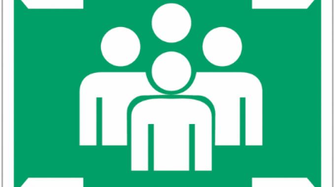 pictograma de personas y flechas