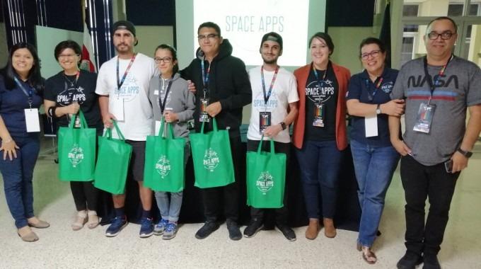 Imagen de los ganadores del space