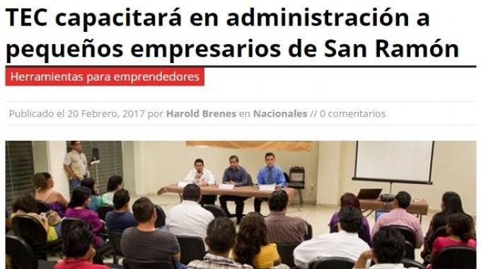 Los empresarios ramonenses tendrán la oportunidad de capacitarse gracias a la investigación y aporte del TEC. (Imagen: AM Prensa)