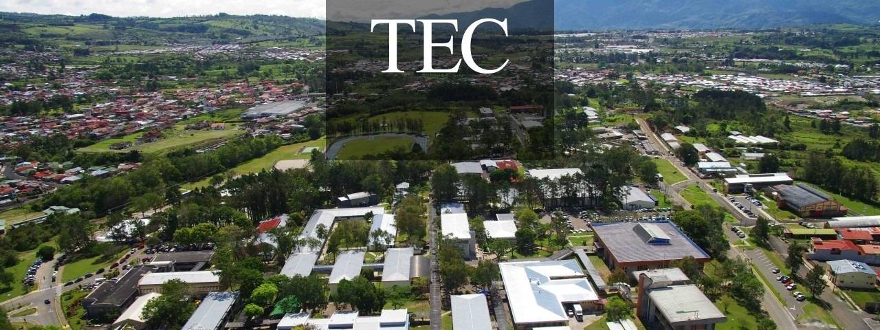 La fotografía es una imagen del campus del TEC en Cartago.