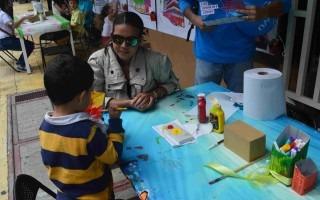 Amón Cultural ofreció actividades infantiles, gracias a la colaboración del Instituto Nacional de Vivienda y Urbanismo (INVU) y del Instituto Nacional de Seguros (INS). (Foto Fernando Montero)