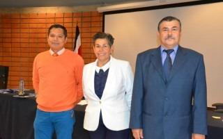 Los candidatos por el sector administrativo (según el orden en la papeleta): Jorge Carmona, Ana Rosa Ruiz e Israel Pacheco. (Foto: OCM)