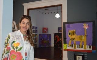 Mónika Ruiz compró la casa 936 sobre la calle 3A para dedicarla al arte y a la cultura, antes de que otro potencial comprador la derribara para construir un estacionamiento (Foto: Fernando Montero)