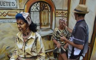 La pintura en tercera dimensión fue uno de los principales atractivos ofrecidos por Pintores al Aire Libre (Pintal) (Foto: Fernando Montero)