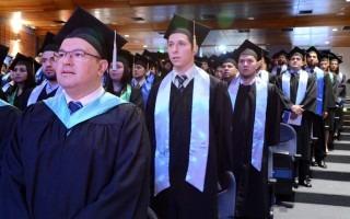 El auditorio del Centro de las Artes estuvo repleto de graduados durante los cuatro actos.