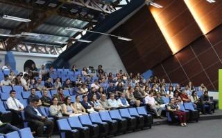 Funcionarios y estudiantes del Campus Tecnológico Local San Carlos se hicieron presentes al acto de juramentación.