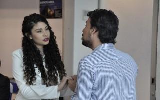 Los cantantes Yanel Sánchez y Kevin Godínez interpretaron tres piezas de ópera como intermedio cultural del evento de bienvenida. (Foto: OCM)