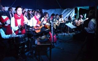 La Orquesta de Guitarras del TEC amenizó el evento.