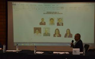 El presidente del TIE Marvin Santos Varela, presentó la conformación de las papeletas. (Foto: OCM)