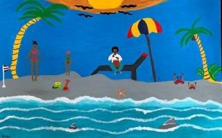 """Segundo lugar: """"Bajo el azul del cielo"""" de Mayra Natalia Guzmán Vargas."""