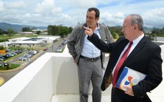 Visita al nuevo edificio: Núcleo Integrado de Tecnología de Información y Comunicación (Foto: OCM / Ruth Garita).