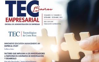 imagen de la portada de la revista digital TEC Empresarial.