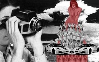 imagen de cámara con monos y mujeres