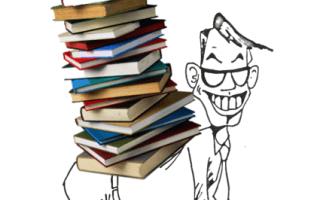 imagen de persona cargando libros
