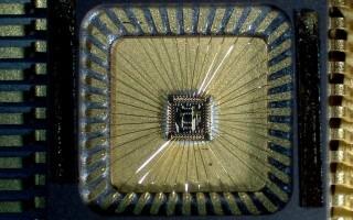 Imagen de un chip electrónico