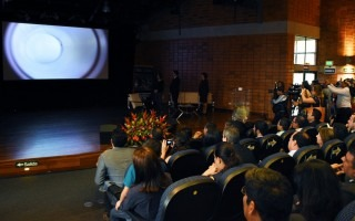 audiencia_en_centro_artes_viendo_video_descarga_plasma_