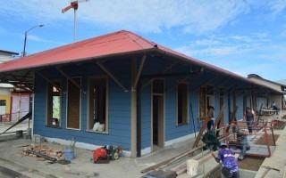estación del tren en remodelación