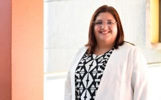 Andrea Cavero es ingeniera del Departamento de Administración de Tecnologías de Información y Comunicación (DATIC) y ocupará el cargo de Secretaria General de la AFITEC (Foto Ruth Garita/OCM)