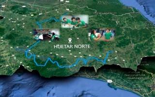 MAPA DE LA ZONA NORTE CON IMAGENES DE JOVENES