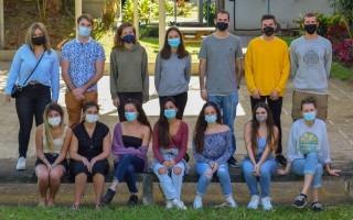 En la fotografía se muestra el grupo de estudiantes extranjeros.