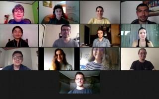 imagen tomada de Zoom con las personas ganadoras del Reactivathon