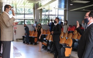 Uno de los actos de graduación en el edificio D3