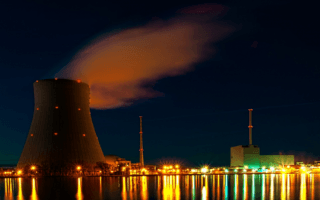 "Planta nuclear ""Isar"" ubicada en Alemania."