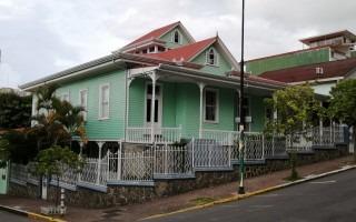 imagen de casa verde