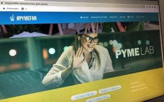 Imagen de la pantalla del landing page de Pyme Lab