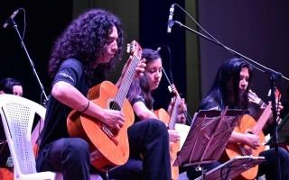 orquesta de guitarras en concierto
