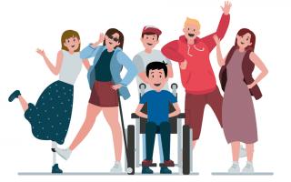 Grupo de personas con discapacidad