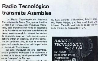 recorte periódico InformaTEC 1982