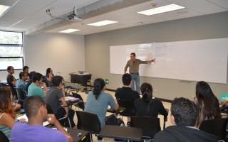 estudiantes en lecciones