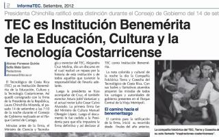 Imagen de la pagina de periódico de la noticia del benemeritazgo.